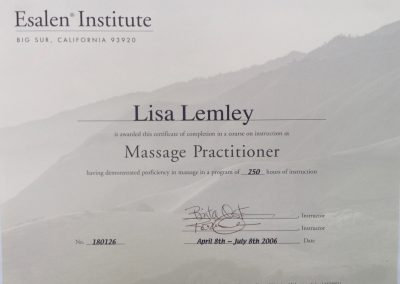 Esalen Massage Practitioner