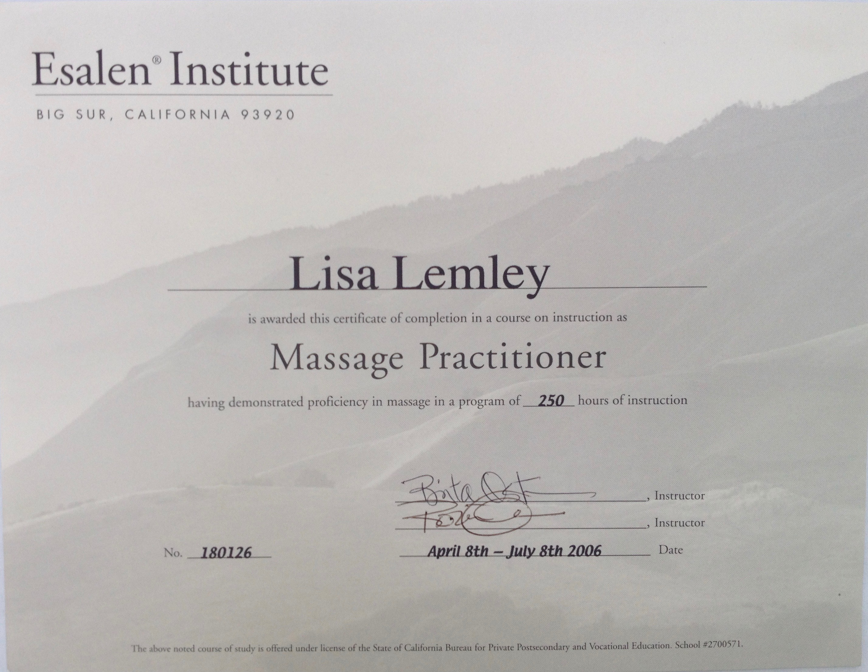 About moonjata esalen massage practitioner 1betcityfo Image collections