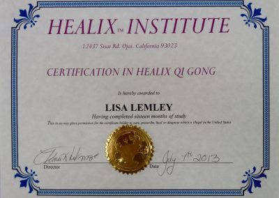 Healix Medical Qi Gong Certification