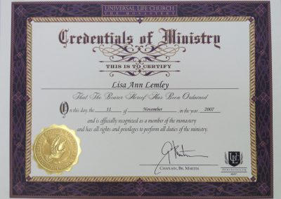 Ministry of Universal Life Church