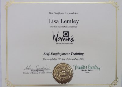 Womens Self Employment Training