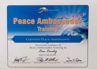 Peace Ambassador Training certification